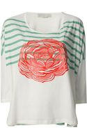 Stella McCartney Rose Print Top - Lyst