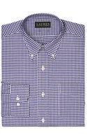 Lauren by Ralph Lauren Purple Gingham Dress Shirt - Lyst