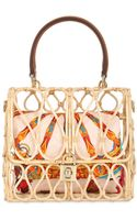 Dolce & Gabbana Dolce Bag Rattan Top Handle Bag - Lyst