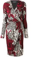 Etro Red Paisley Print Ruched Waist Dress - Lyst