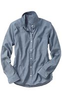 Gap Fitted Boyfriend Chambray Shirt - Lyst