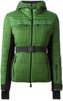Moncler Grenoble Belted Padded Hooded Jacket - Lyst