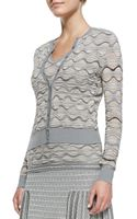 M Missoni Bubblestitch Button Front Cardigan - Lyst