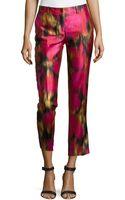 Michael Kors Samantha Zinnia-print Pants - Lyst