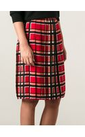 Marc By Marc Jacobs Toto Plaid Pattern Skirt - Lyst