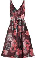 Lela Rose Floralpatterned Fil Coupã Dress - Lyst