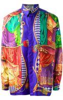 Gianni Versace Vintage Foulard Print Shirt - Lyst