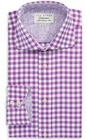 Ted Baker Checkered Button Down Shirt - Lyst