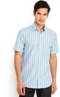 Perry Ellis Blue Stripe Sport Shirt - Lyst