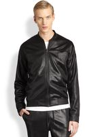 T By Alexander Wang Shiny Knit Bomber Jacket - Lyst