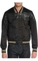 3.1 Phillip Lim Leather-yoked Baseball Jacket - Lyst