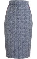 Roksanda Ilincic Herringbone Pencil Skirt - Lyst