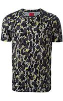 Moncler Gamme Rouge Camouflage Print T-shirt - Lyst