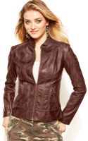 Guess Faux Leather Jacket - Lyst