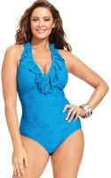 Kenneth Cole Reaction Crochet One-Piece Swimsuit - Lyst