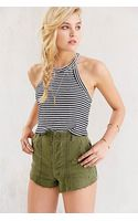 Truly Madly Deeply Fitted Cropped Tank Top - Lyst