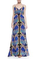 Mara Hoffman Pyramid-print V-neck Maxi Dress Pyramid Night Nvy 0 - Lyst