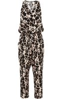Thakoon Addition Printed V-neck Satin Jumpsuit - Lyst