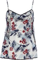 River Island Light Blue Floral Print Embroidered Cami Top - Lyst