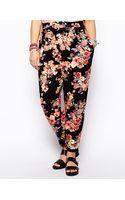 Asos Curve Exclusive Peg Pant in Floral Print - Lyst