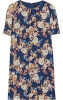 J.Crew Floral-print Silk-chiffon Dress - Lyst