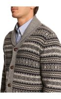 Hartford Jacquard Wool Cardigan with Wooden Buttons - Lyst
