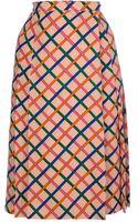 Yves Saint Laurent Vintage Crisscross Skirt - Lyst