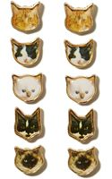 Nasty Gal Good Kitty Earring Set - Lyst