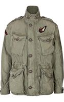 Polo Ralph Lauren Cotton Embroidered Army Jacket - Lyst