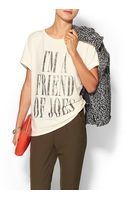 Haute Hippie Friend Of Joes Knit Sweatshirt - Lyst