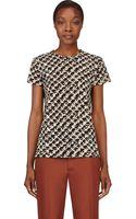 Proenza Schouler Black Jersey Tweed Print T_shirt - Lyst
