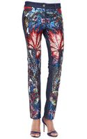 Roberto Cavalli Sequined Exoticprint Jeans - Lyst