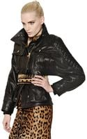 Balmain Cropped Quilted Nappa Leather Jacket - Lyst