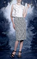 A La Russe Stretch Twill Pencil Skirt - Lyst