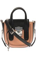 Rochas Leather and Calfhair Crossbody Bag - Lyst