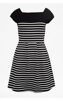 French connection County Cotton Stripe Dress - Lyst