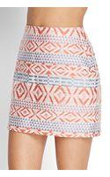 Love 21 Geo Print Mini Skirt - Lyst
