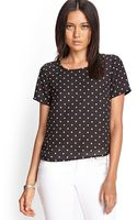 Forever 21 Boxy Polka Dot Top - Lyst