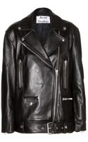 Acne Studios More Leather Jacket - Lyst