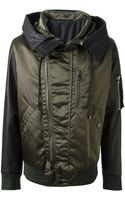 Diesel Black Gold Bikerstyle Hooded Jacket - Lyst