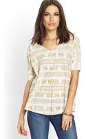 Love 21 Tribalinspired Knit Top - Lyst