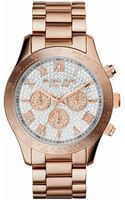 Michael Kors Ladies Layton Glitz Midsize Chronograph Watch - Lyst