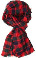 Forever 21 Frayed Plaid Scarf - Lyst