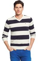Tommy Hilfiger Rugby Stripe Sweater - Lyst