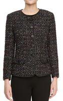 Lafayette 148 New York Tweed Faux Leathertrim Jacket - Lyst