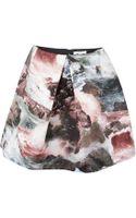 Carven Seascape Print Full Skirt - Lyst