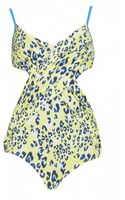 Matthew Williamson Electro Leopard Crossover Swimsuit - Lyst