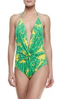 Letarte Banana Leaf Onepiece Swimsuit - Lyst