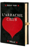 Olympia Le-Tan Larranche Couer Leather Book Clutch - Lyst