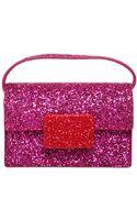 Saint Laurent Lulu Bunny Glitter On Leather Bag - Lyst